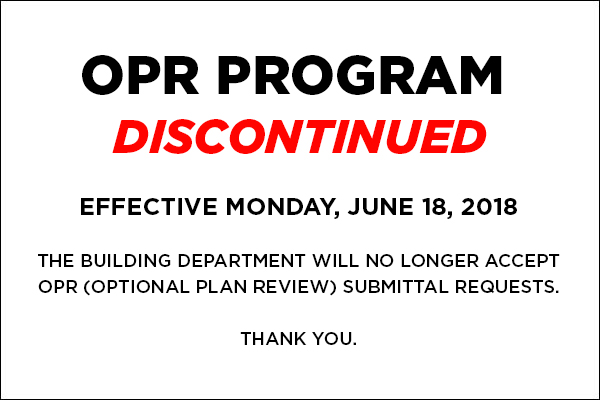 OPR Discontinued
