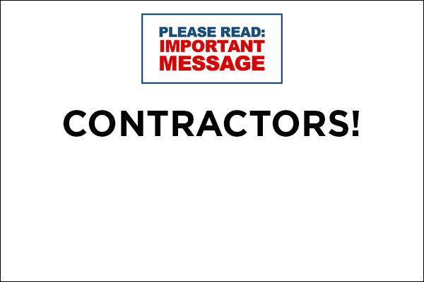 Contractors - renew occupational licenses