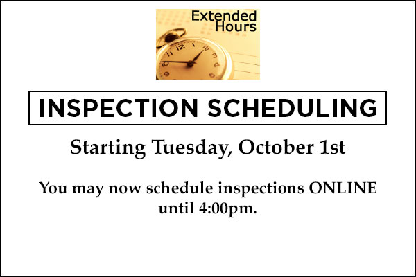 Inspection Schedule Extended Hours