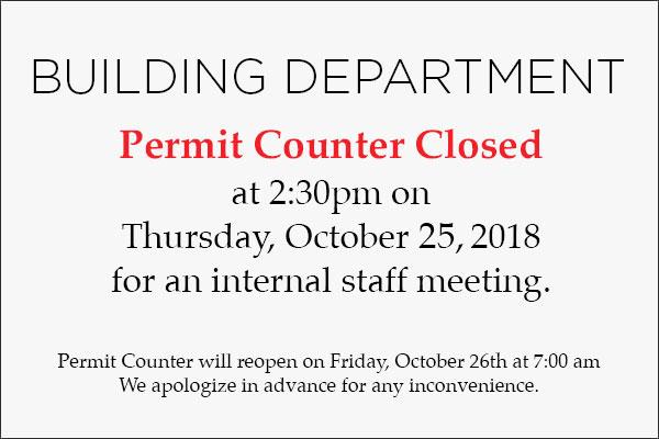 Permit Counter Closed
