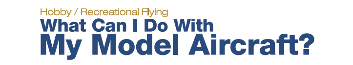 What can I do with my model aircraft?