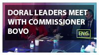 Doral leaders meet with Commissioner Bovo