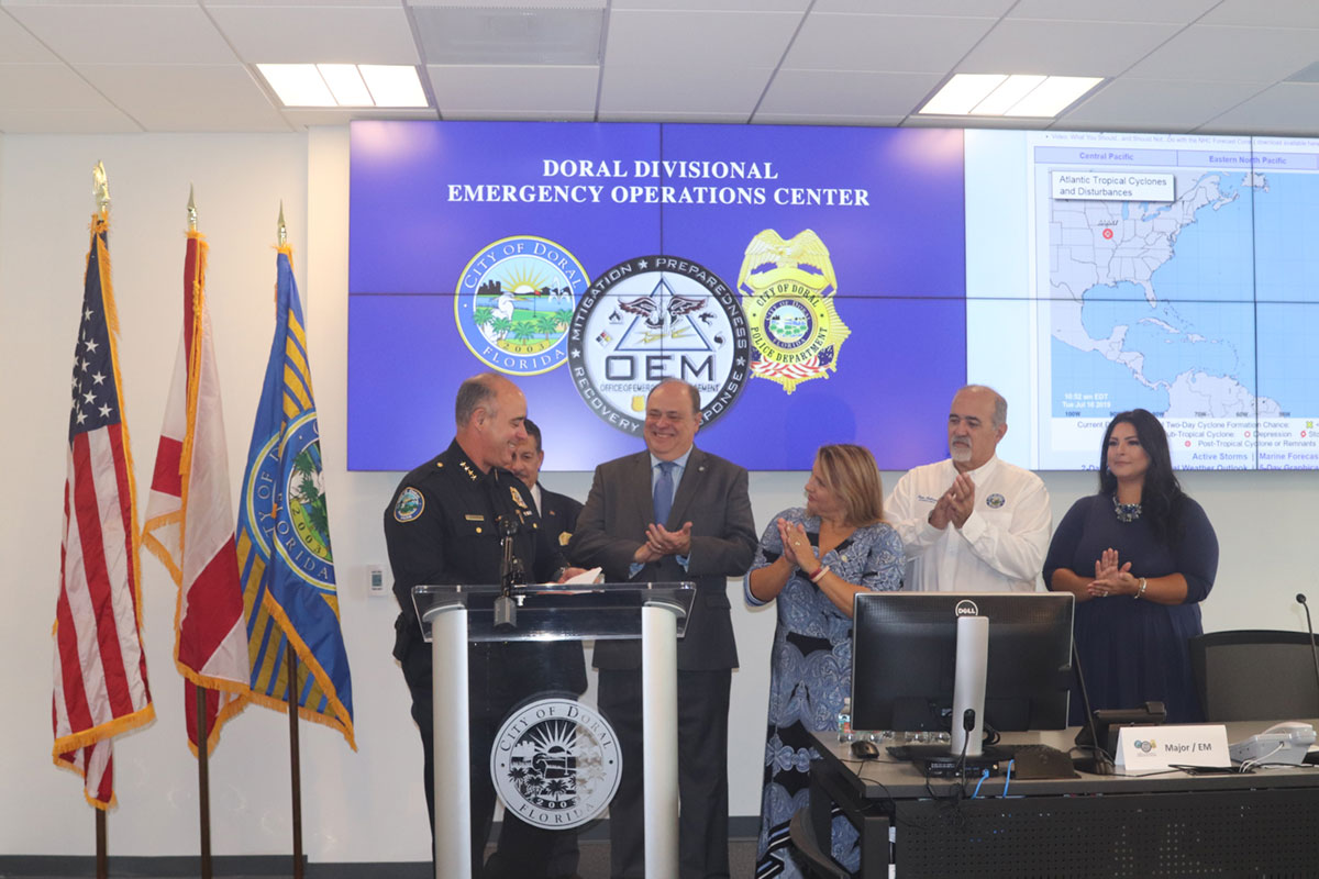 Emergency Operations Center Ribbon Cutting