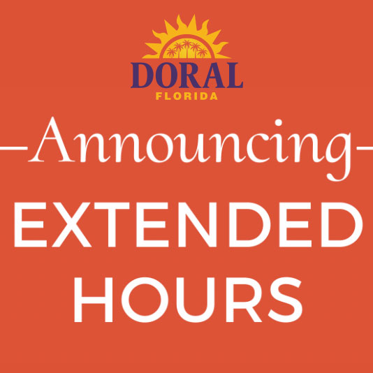 City of Doral has Extended Office Hours