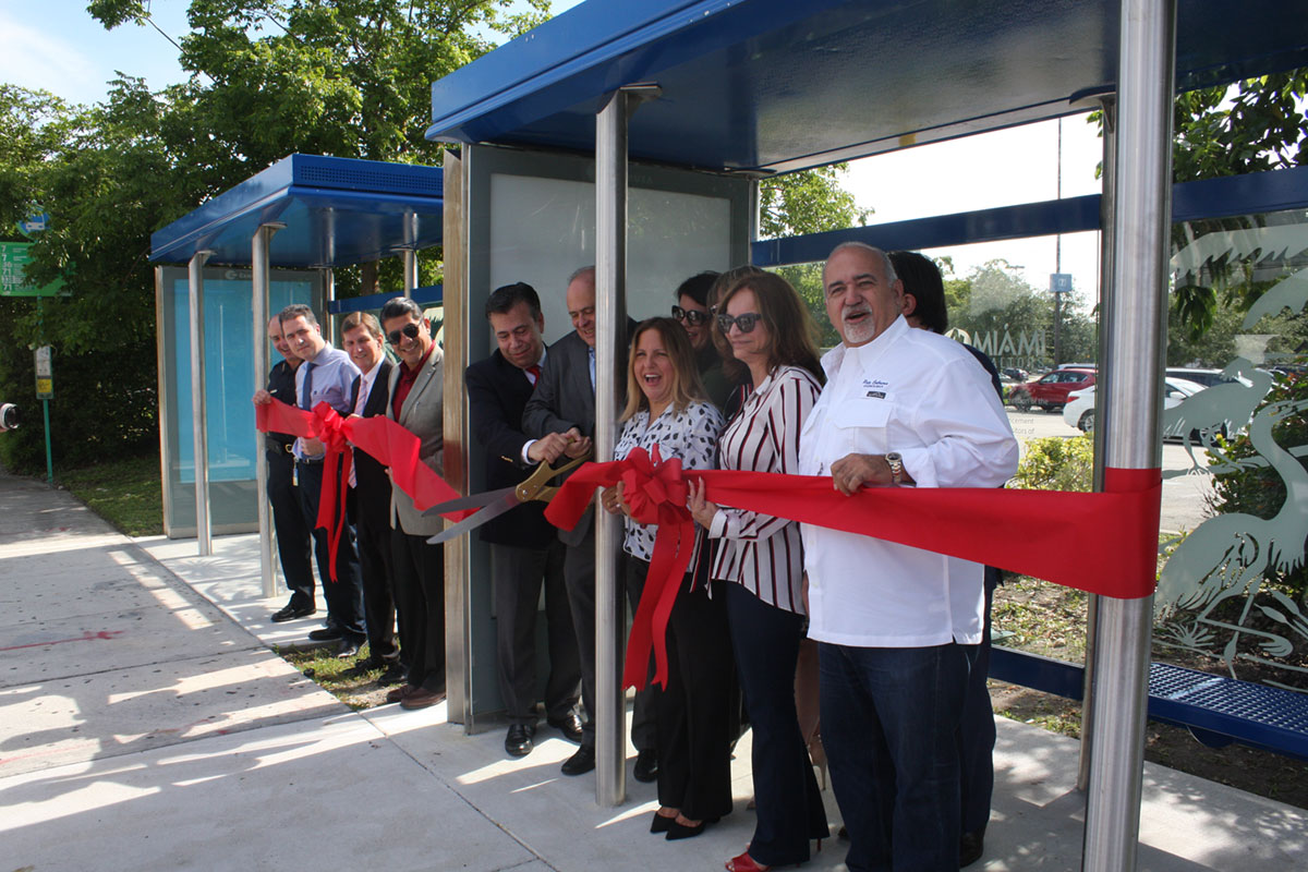 City Of Doral And Miami Realtors Unveil New Bus Shelter At