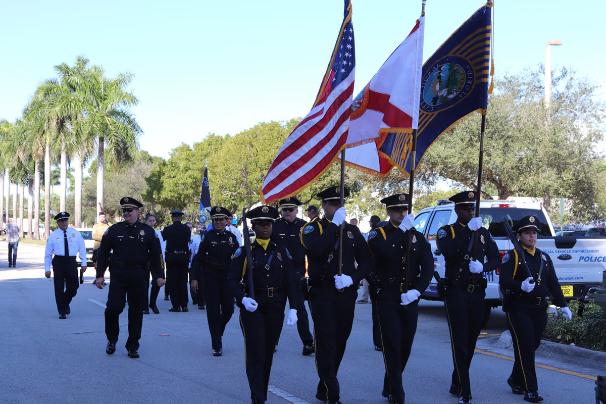 Veterans with Annual Parade & Ceremony